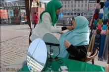 حجاب تجربه جدید زنان و دختران در سوئد(عکس)