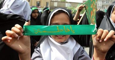 اجتماع دانش آموزان مشهدی در حمایت از حجاب و عفاف